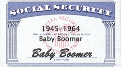 Baby boomers are the generation born between WWII and 1964.