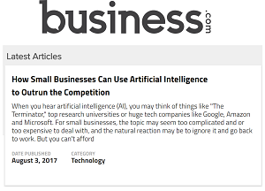 Michael Zammuto's Business.com article on artificial intelligence